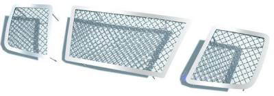 APS - Nissan Titan APS Wire Mesh Grille - without Logo Opening - Upper - Stainless Steel - N75422S