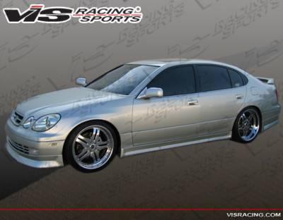 VIS Racing - Lexus GS VIS Racing Wize Side Skirts - 98LXGS34DWIZ-004
