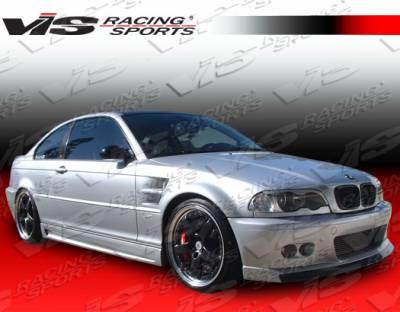 VIS Racing - BMW 3 Series 2DR VIS Racing Euro Tech-2 Side Skirts - 99BME462DET2-004