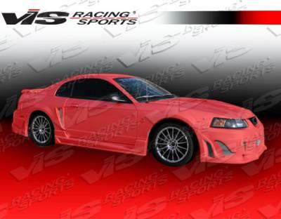 VIS Racing - Ford Mustang VIS Racing Ballistix Side Skirts - 99FDMUS2DBX-004
