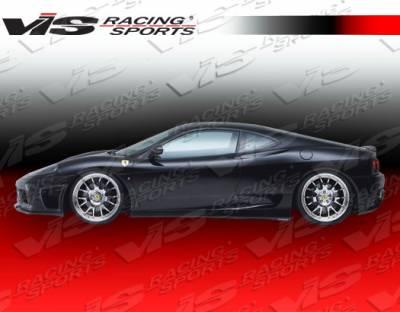 VIS Racing - Ferrari 360 VIS Racing VIP Side Skirts - 99FR3602DVIP-004