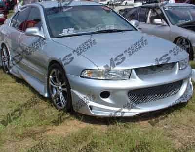 VIS Racing - Mitsubishi Galant VIS Racing Cyber-1 Side Skirts - 99MTGAL4DCY1-004