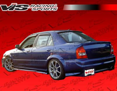 VIS Racing - Mazda Protege VIS Racing Evo 2 Side Skirts - 99MZ3234DEVO2-004