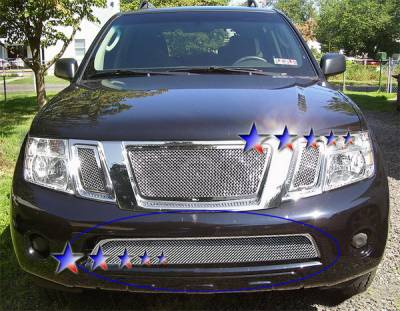 APS - Nissan Pathfinder APS Wire Mesh Grille - Bumper - Stainless Steel - N76575T