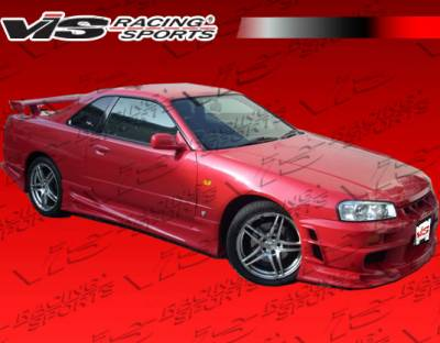 VIS Racing - Nissan Skyline VIS Racing Ballistix Side Skirts - 99NSR34GTRBX-004