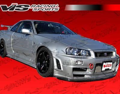VIS Racing - Nissan Skyline VIS Racing Techno R Side Skirts - 99NSR34GTRTNR-004