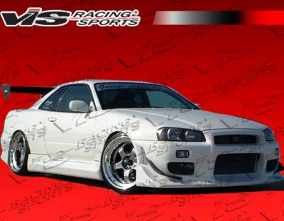 VIS Racing - Nissan Skyline VIS Racing Tracer Side Skirts - 99NSR34GTRTRA-004