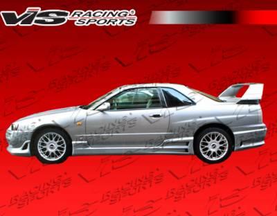 VIS Racing - Nissan Skyline VIS Racing Tracer GT Side Skirts - 99NSR34GTSTGT-004