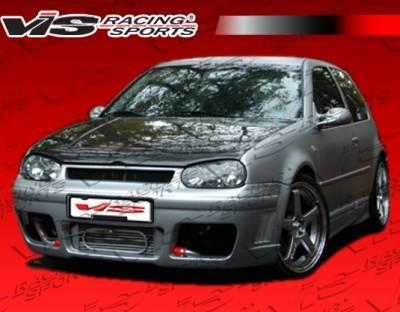 VIS Racing - Volkswagen Golf VIS Racing R Tech Side Skirts - 99VWGOF2DRTH-004