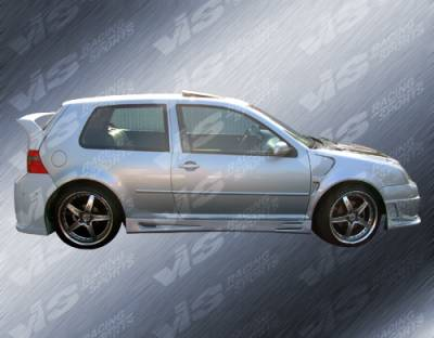 VIS Racing - Volkswagen Golf VIS Racing Titan Side Skirts - 99VWGOF2DTT-004