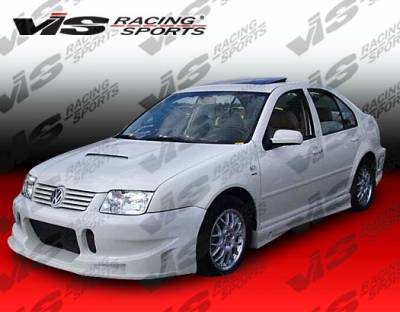 VIS Racing - Volkswagen Jetta VIS Racing TSC Side Skirts - 99VWJET4DTSC-004