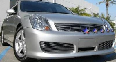 APS - Infiniti G35 4DR APS Billet Grille - Bumper - Aluminum - N85601A