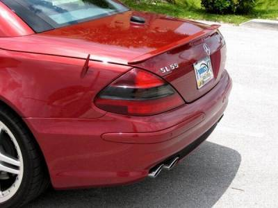 Custom - Rear Lip Spoiler Painted 590 Red