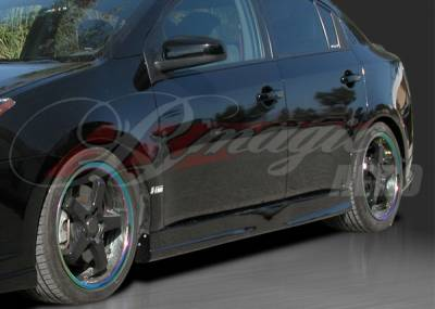 AIT Racing - Nissan Sentra BMagic Pulse Style Side Skirts - NS07BMIMPSS