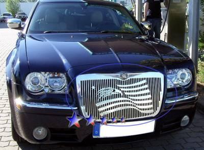 APS - Chrysler 300 APS Symbolic Grille - Upper - Aluminum - R25300B