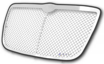 APS - Chrysler 300 APS Wire Mesh Grille - with Vertical Center Bar - Upper - Stainless Steel - R75300W