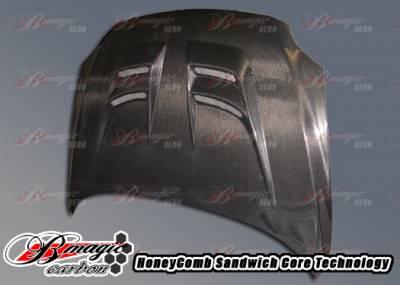 AIT Racing - Scion tC AIT Racing Raiden Style Carbon Fiber Hood - SC04BMRDNCFH