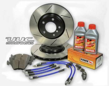 Custom - OE slotted plated REAR brake rotors