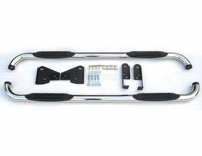 4 Car Option - Dodge Ram 4 Car Option Stainless Steel Side Bar - SSB-DG-0698