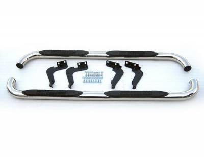 4 Car Option - Hummer H3 4 Car Option Stainless Steel Side Bar - SSB-HM-0713