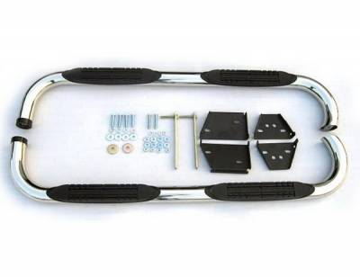 4 Car Option - Toyota Tacoma 4 Car Option Stainless Steel Side Bar - SSB-TY-0498