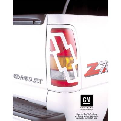 V-Tech - Chevrolet Silverado V-Tech Taillight Covers - Bow Tie Style - 2450