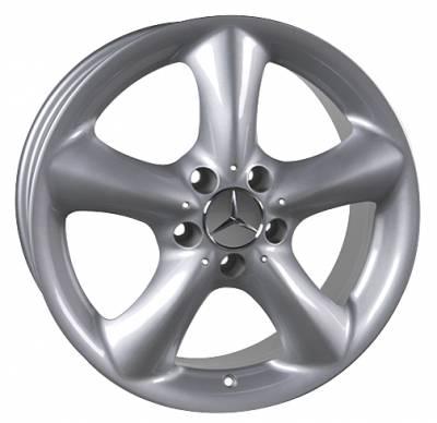 Custom - 17 inch Five Spoke Silver - 4 wheel set