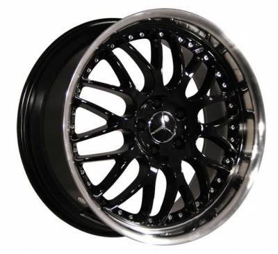 Custom - 19 inch - BlackSilver - 4 wheel set