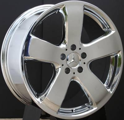 Custom - 19 inch Chrome AMG style - 4 wheel set