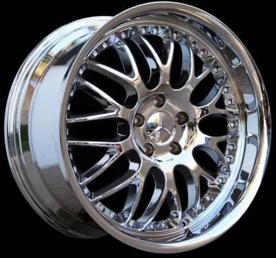Custom - 19 inch Deep Dish Split Spoke Chrome - 4 wheel set