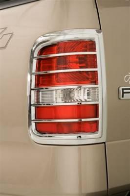 Wade - Wade Chrome Tail Light Cover - Regular 2PC - 15025