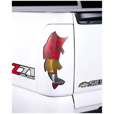 V-Tech - Chevrolet Silverado V-Tech Taillight Covers - Sportsman Bass Style - 27501