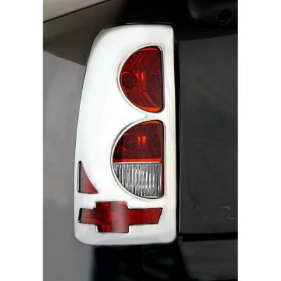 V-Tech - Chevrolet Silverado V-Tech Taillight Covers - Bow Tie Style - Chrome - 132472