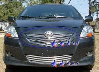APS - Toyota Yaris APS CNC Grille - Upper - Aluminum - T95530R