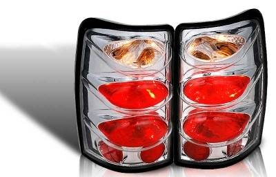WinJet - Chevrolet Suburban WinJet Altezza Taillight - Chrome & Clear - WJ20-0005-01