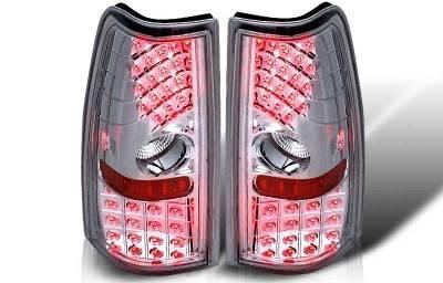 WinJet - Chevrolet Silverado WinJet LED Taillight - Chrome & Clear - WJ20-0006-01