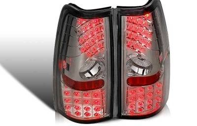 WinJet - Chevrolet Silverado WinJet LED Taillight - Chrome & Smoke - WJ20-0006-02