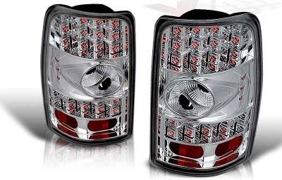 WinJet - GMC Yukon WinJet LED Taillight - Chrome & Clear - WJ20-0007-01