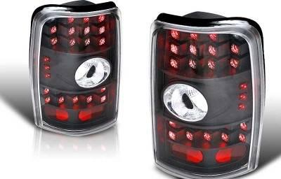 WinJet - Chevrolet Tahoe WinJet LED Taillight - Black & Clear - WJ20-0007-04