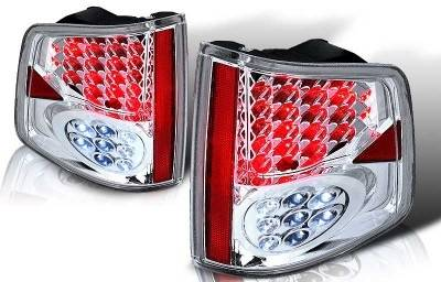 WinJet - Chevrolet S10 WinJet LED Taillight - Chrome & Clear - WJ20-0008-01