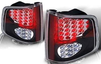 WinJet - Chevrolet S10 WinJet LED Taillight - Black & Clear - WJ20-0008-04