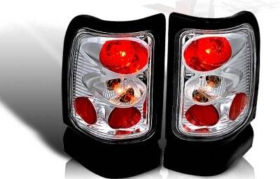 WinJet - Dodge Ram WinJet Altezza Taillight - Chrome & Clear - WJ20-0012-01