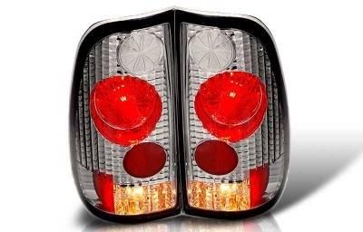 WinJet - Ford F150 WinJet Altezza Taillight - Chrome & Smoke - WJ20-0016-02