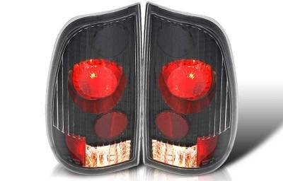 WinJet - Ford F150 WinJet Altezza Taillight - Black & Clear - WJ20-0016-04
