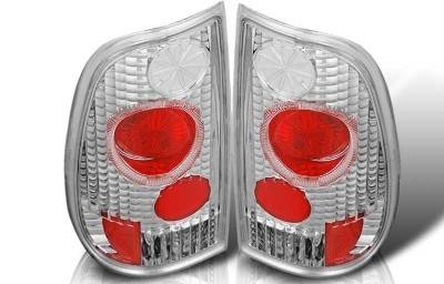 WinJet - Ford F150 WinJet Altezza Taillight with Halo - Chrome & Clear - WJ20-0017-01