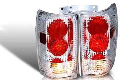 WinJet - Ford Expedition WinJet Altezza Taillight - Chrome & Clear - WJ20-0018-01