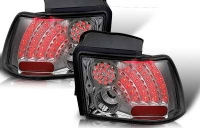 WinJet - Ford Mustang WinJet LED Taillight - Chrome & Smoke - WJ20-0019-02