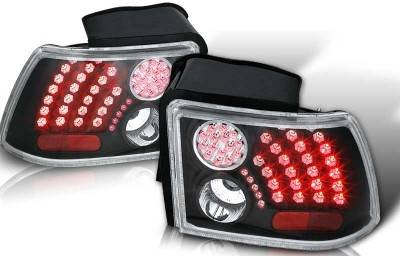WinJet - Ford Mustang WinJet LED Taillight - Black & Clear - WJ20-0019-04