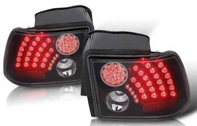 WinJet - Ford Mustang WinJet LED Taillight - Black & Smoke - WJ20-0019-05