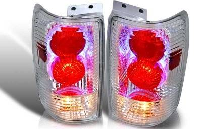 WinJet - Ford Expedition WinJet Altezza Taillight with Halo - Chrome & Clear - WJ20-0020-01